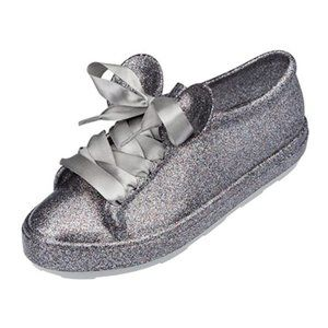 Melissa Disney Mickey Minnie Glitter Sneakers Sz 8